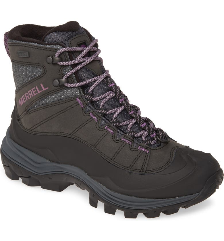 MERRELL Thermo Chill Waterproof Winter Boot, Main, color, BLACK RUBBER