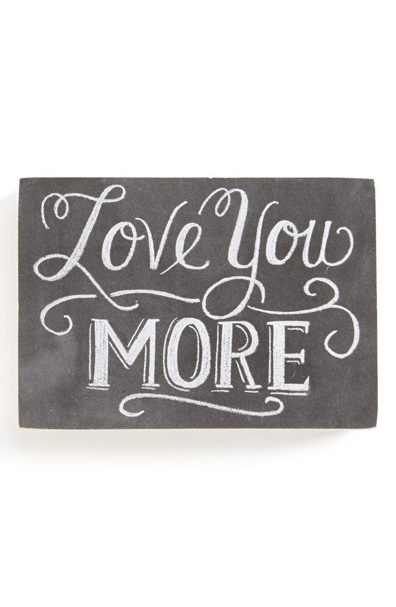 PRIMITIVES BY KATHY 'Love You More' Chalk Sign, Main, color, 001