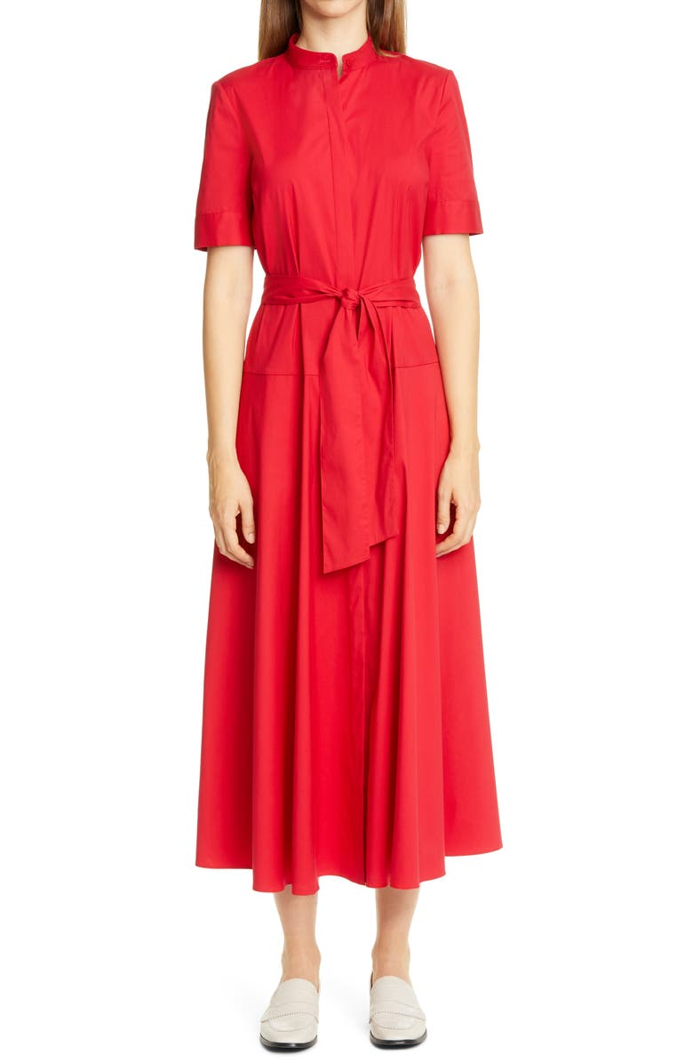 LAFAYETTE 148 NEW YORK Augustina Belted Midi Shirtdress, Main, color, 645