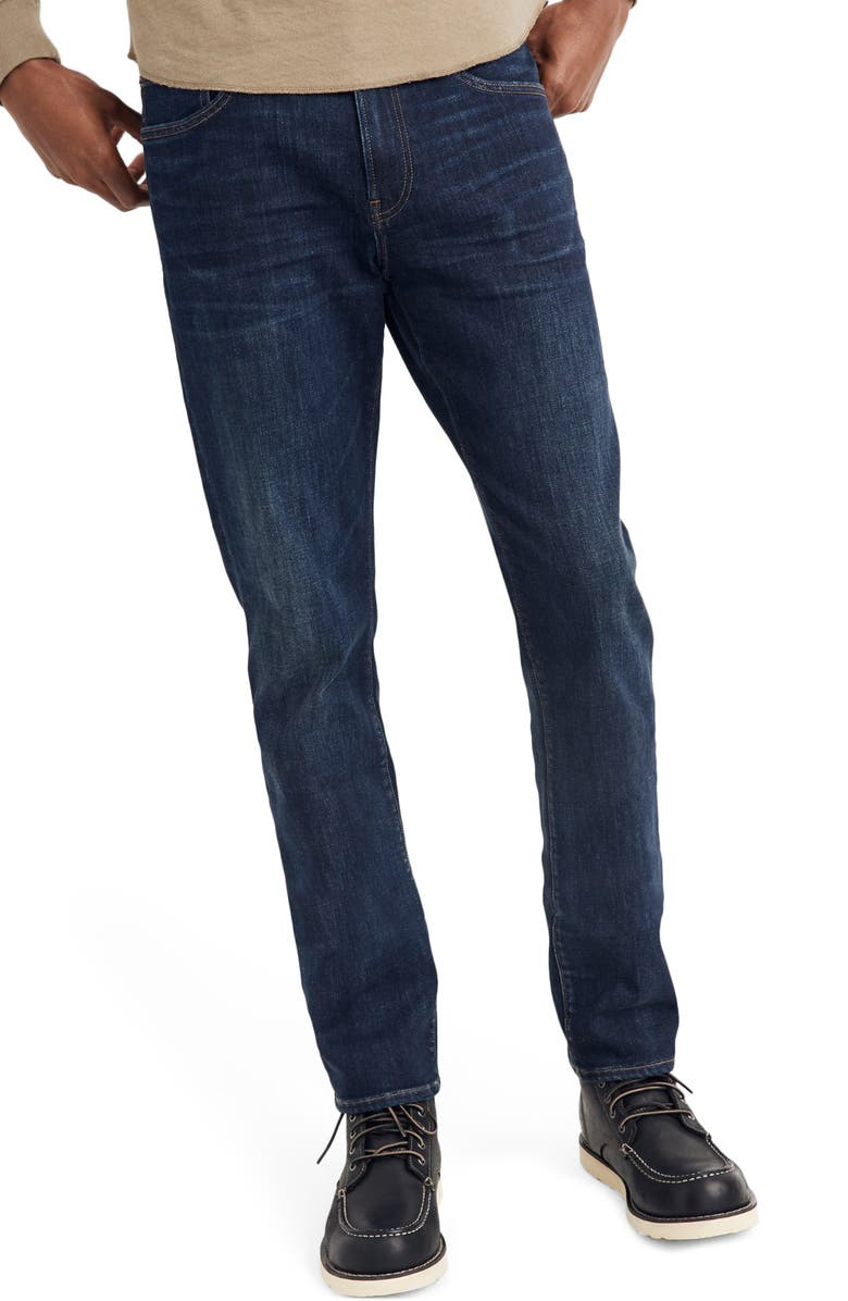 MADEWELL Straight Everyday Flex Jeans: THERMOLITE<sup>®</sup> Edition, Main, color, 400