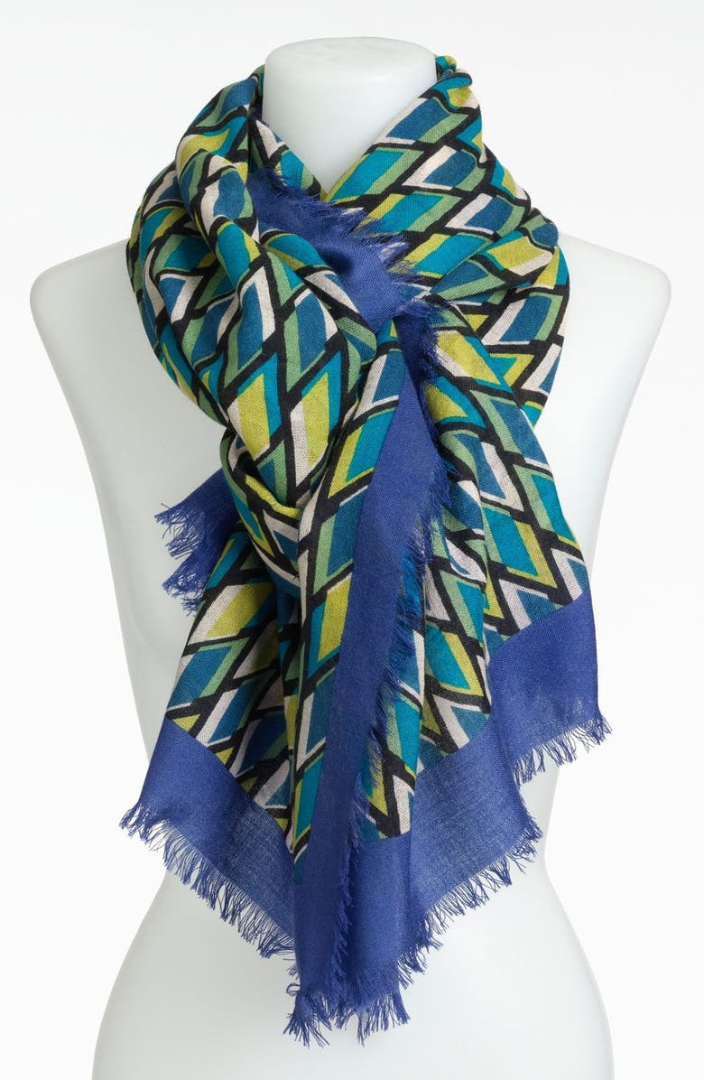NORDSTROM Graphic Print Wool Scarf, Main, color, 400