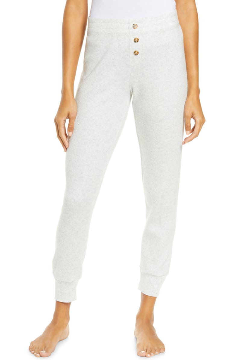 PJ SALVAGE Thermal Lounge Joggers, Main, color, HEATHER LIGHT GREY
