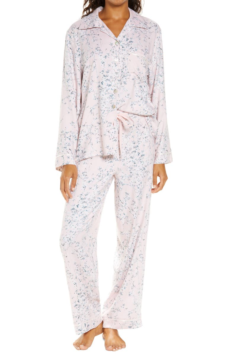 PAPINELLE Cherry Blossom Pink Cozy Pajamas, Main, color, 680