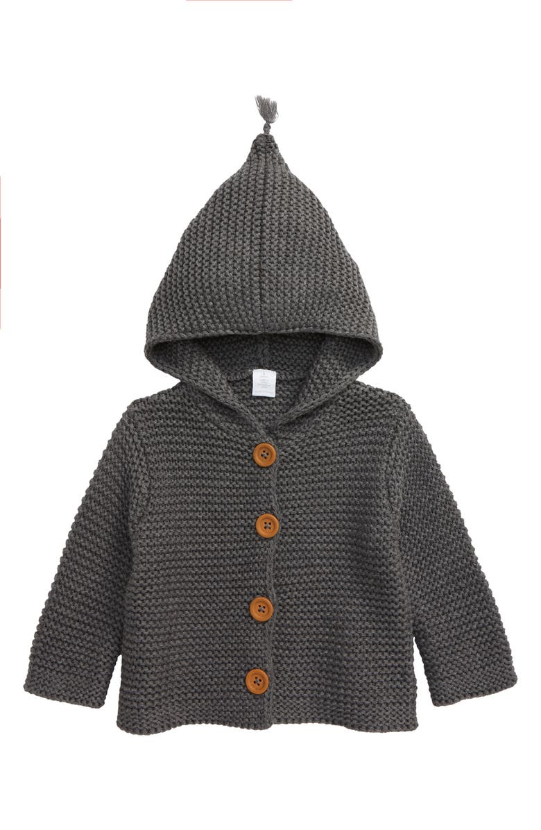 NORDSTROM Baby Organic Cotton Hooded Cardigan, Main, color, 030