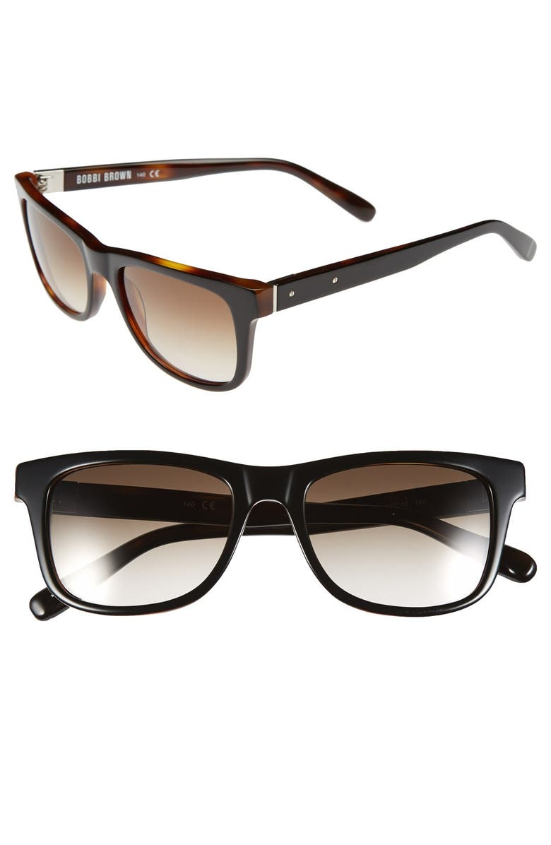 BOBBI BROWN 'The Steve' 52mm Sunglasses, Main, color, 001