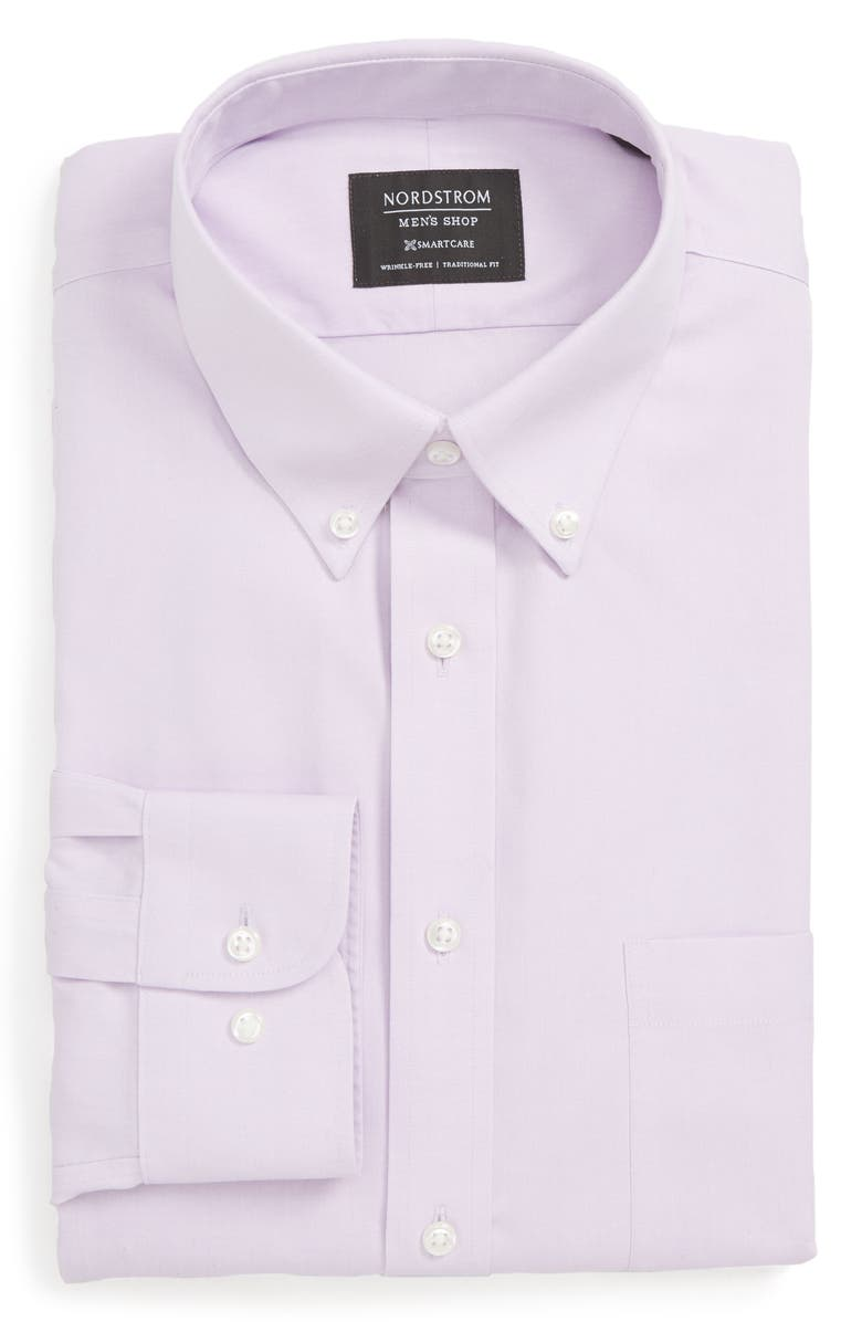 NORDSTROM MEN'S SHOP Smartcare<sup>™</sup> Traditional Fit Pinpoint Dress Shirt, Main, color, LAVENDER