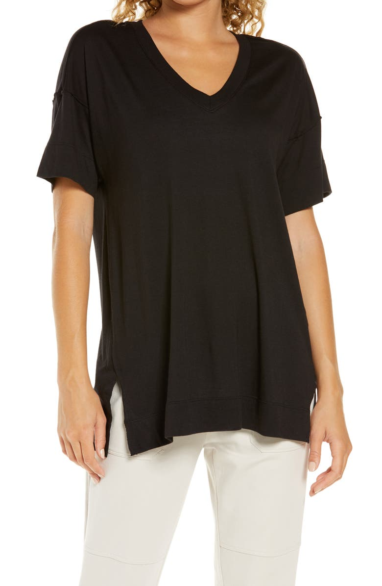ZELLA All Day Oversize T-Shirt, Main, color, BLACK
