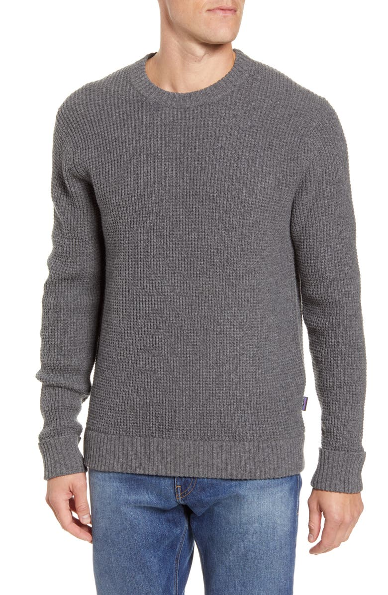 PATAGONIA Recycled Wool Blend Sweater, Main, color, HEX GREY