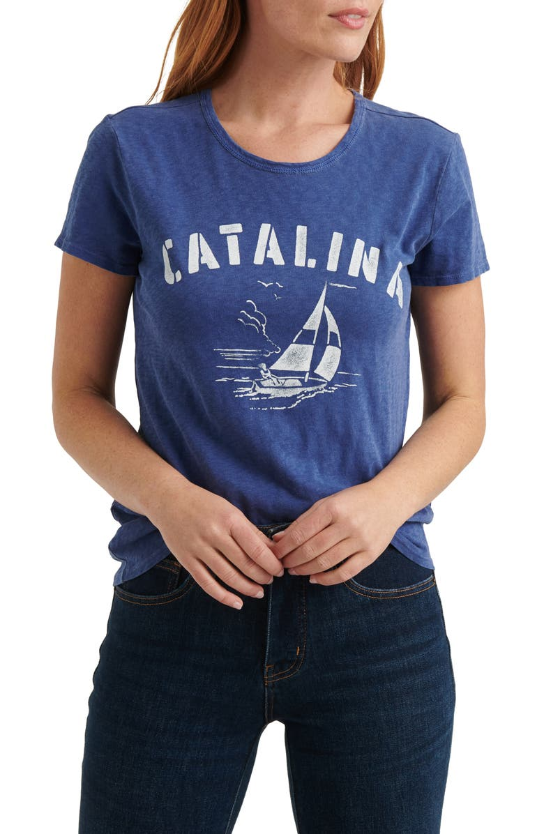 LUCKY BRAND Catalina Sailing Graphic Cotton Tee, Main, color, 410