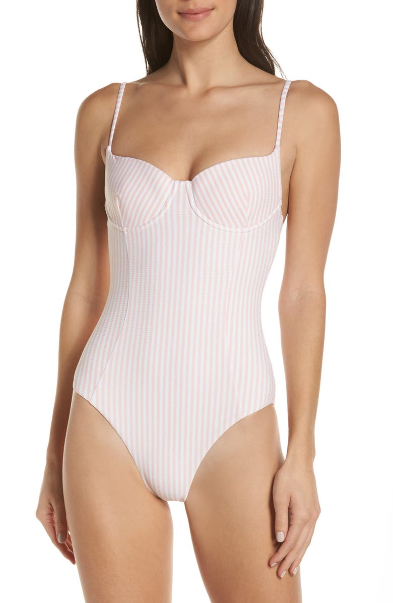ONIA Check One-Piece Swimsuit, Main, color, 651