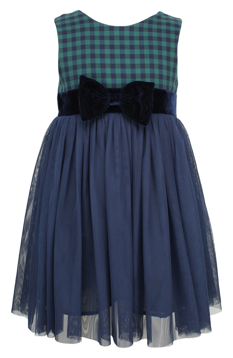 POPATU Check Sleeveless Tulle Dress, Main, color, 410