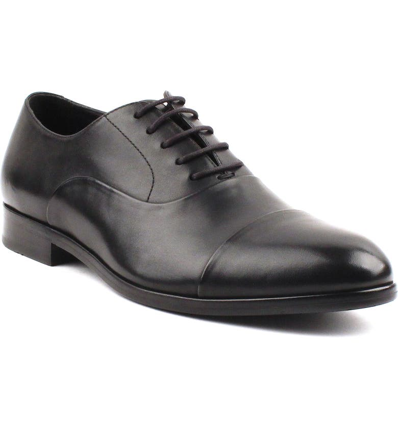 GORDON RUSH Hughes Cap Toe Oxford, Main, color, BLACK LEATHER