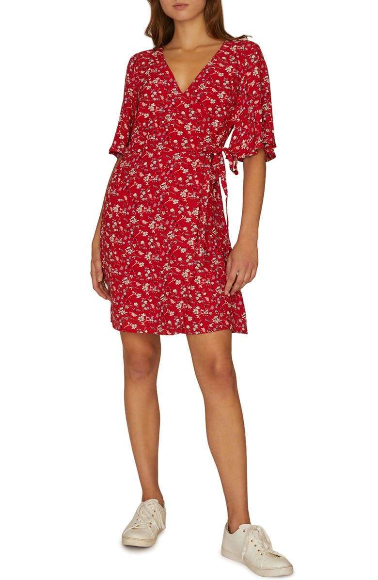 SANCTUARY Girl on Fire Faux Wrap Dress, Main, color, 611