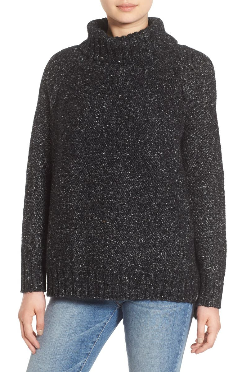 DREAMERS BY DEBUT Textured Knit Turtleneck, Main, color, 020