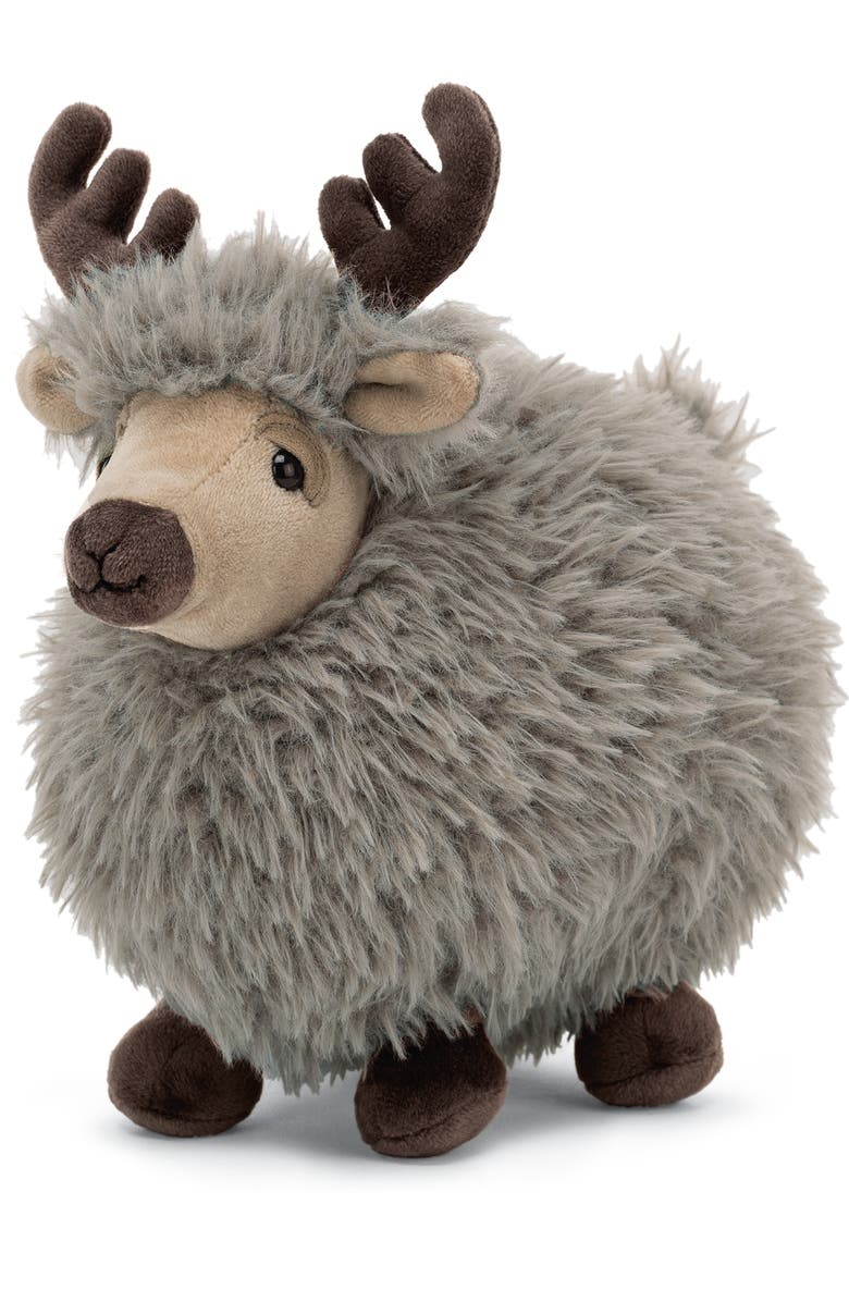 JELLYCAT Small Rolbie Reindeer Stuffed Animal, Main, color, BEIGE