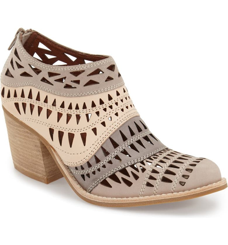 JEFFREY CAMPBELL 'Faviola' Cutout Western Bootie, Main, color, TAUPE/ GREY LEATHER