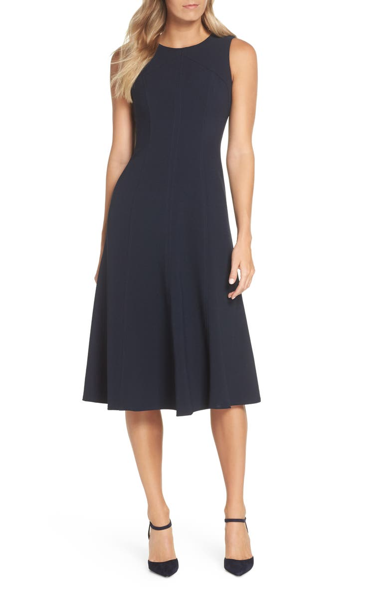 ELIZA J Sleeveless Midi Dress, Main, color, 410