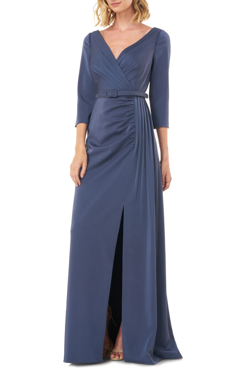 KAY UNGER Capri Belted Gown, Main, color, 033
