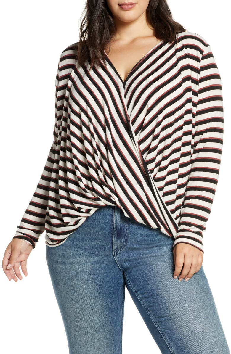 VERO MODA Wrap Knit Top, Main, color, 200