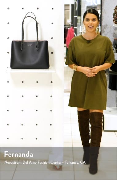 All Day Large Leather Tote, sales video thumbnail