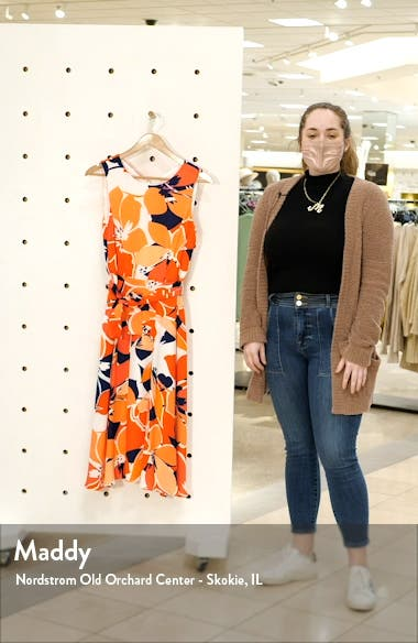 Floral Belted Fit & Flare Midi Dress, sales video thumbnail