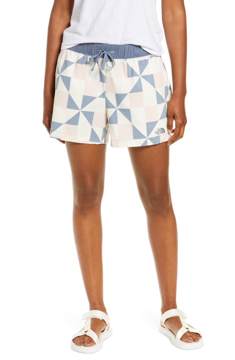 THE NORTH FACE Class V Shorts, Main, color, PINK PATCHWORK PRINT
