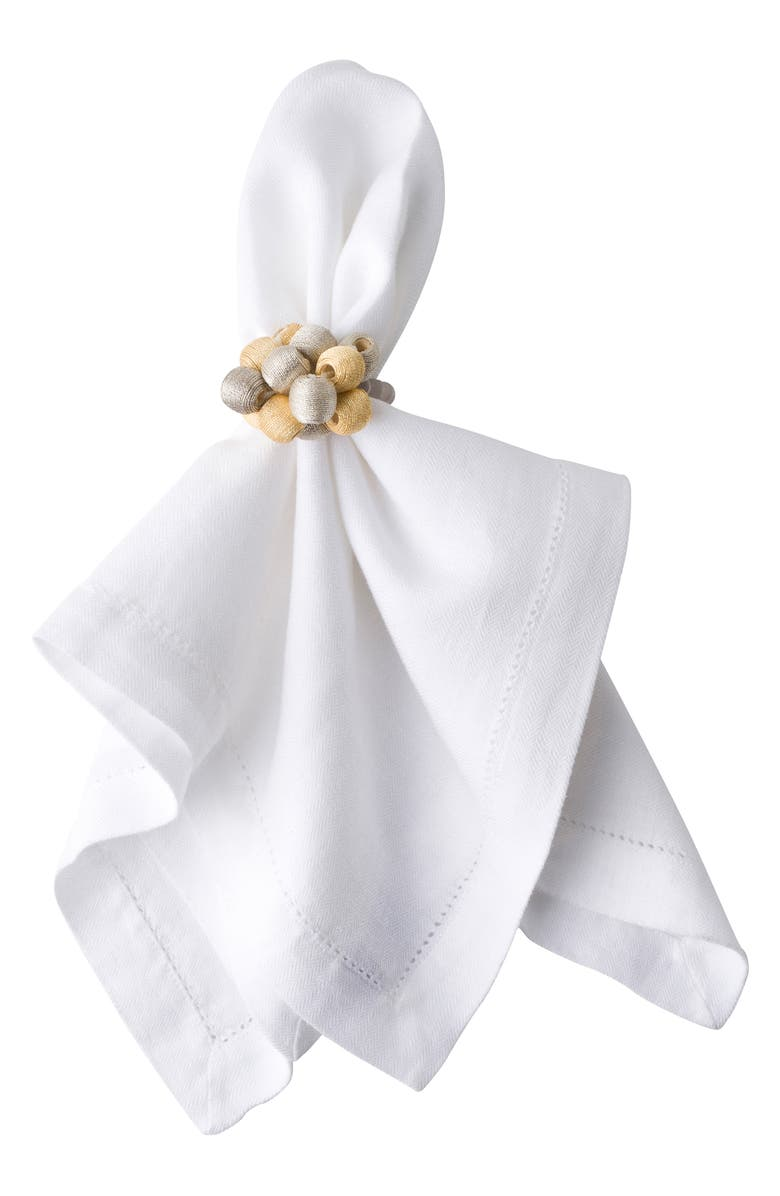 JULISKA Metallic Bead Napkin Ring, Main, color, 710