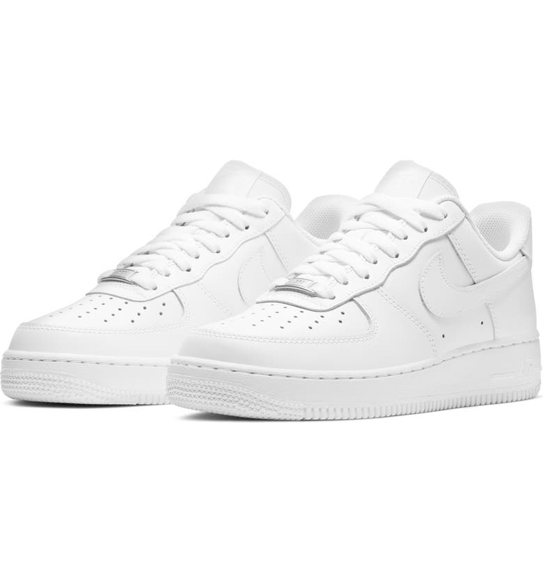 NIKE Air Force 1 Sneaker, Main, color, WHITE