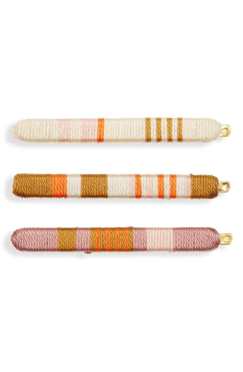 MADEWELL 3-Pack Thread Wrapped Hairpins, Main, color, WEATHERED BRICK