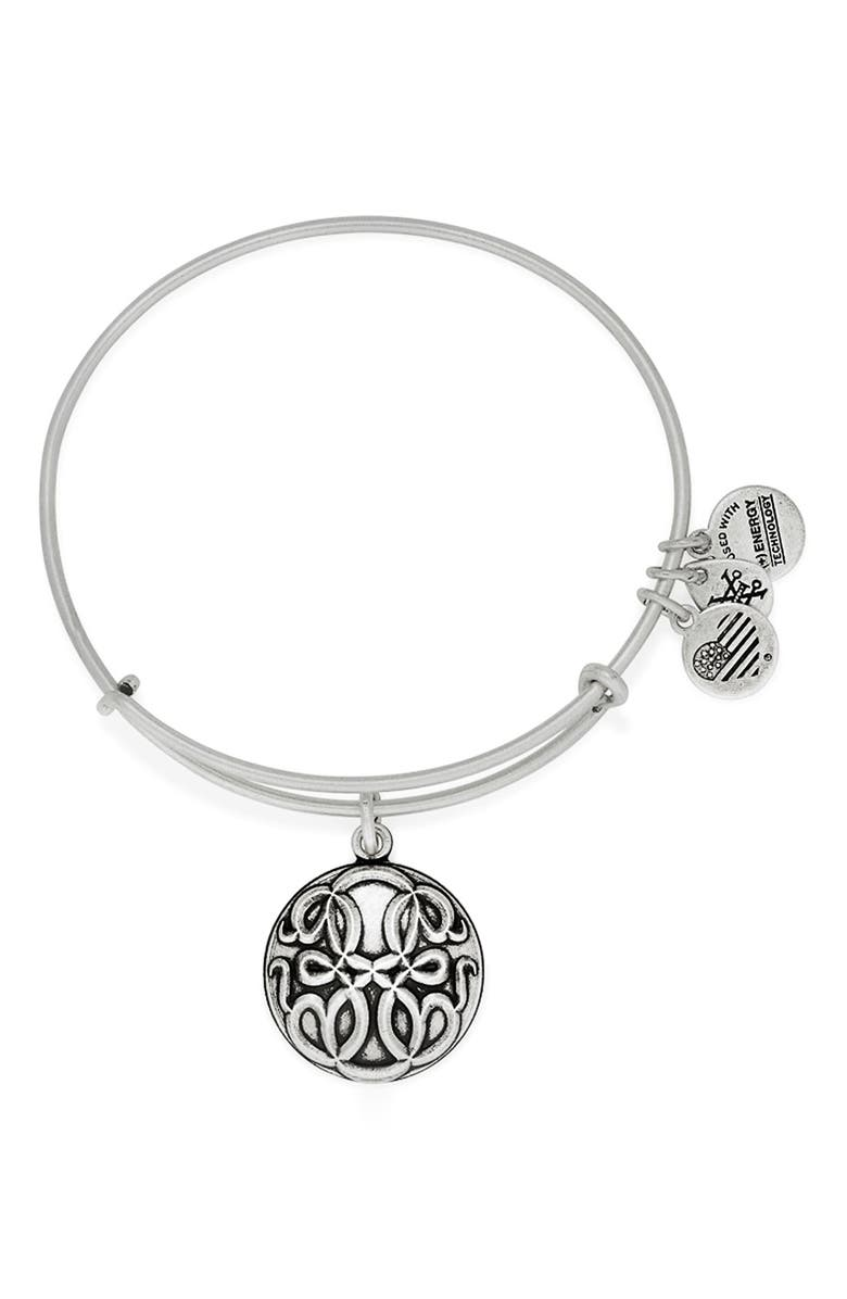 ALEX AND ANI 'Path of Life' Charm Bracelet, Main, color, Silver