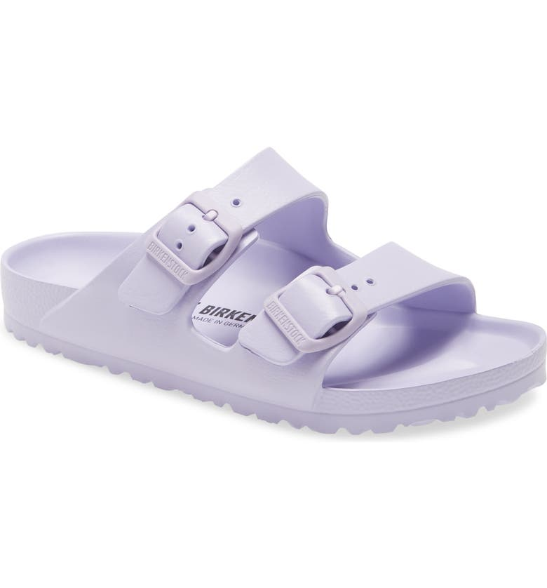 BIRKENSTOCK Essentials Arizona Waterproof Slide Sandal, Main, color, PURPLE FOG RUBBER