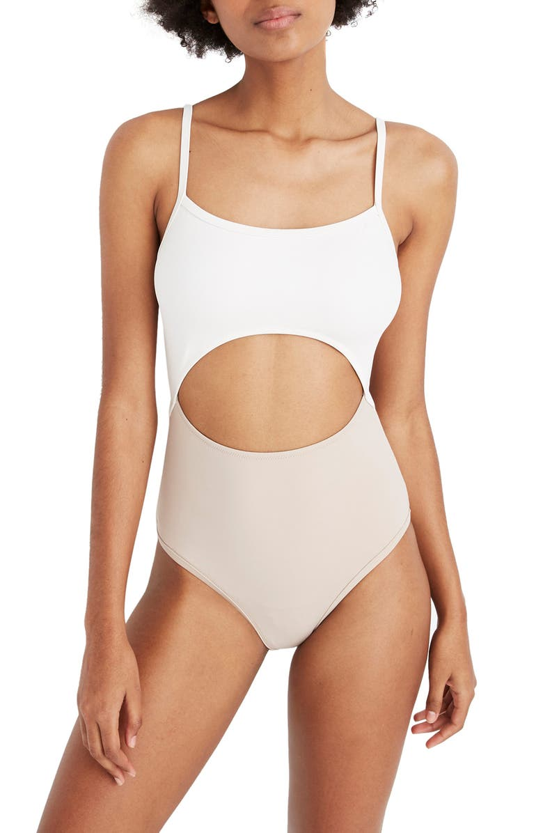 MADEWELL Second Wave Cutout One-Piece Swimsuit, Main, color, 270