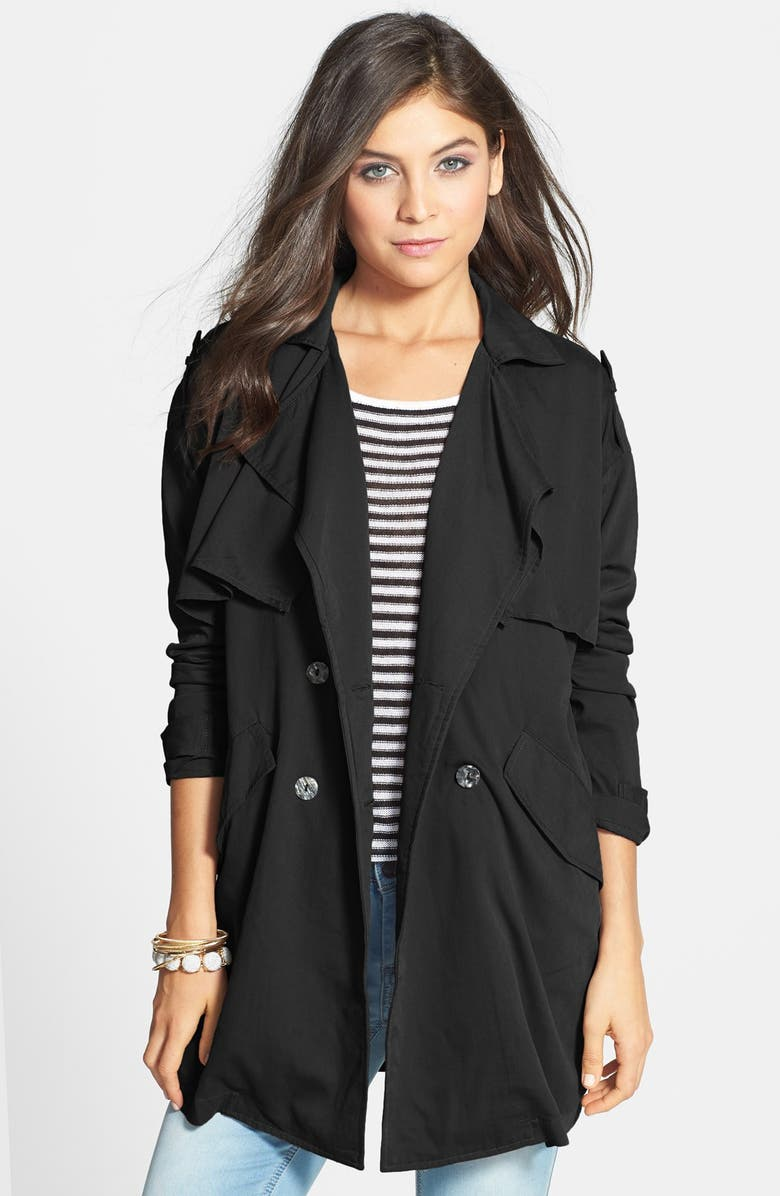 ROSSMORE Oversized Trench Coat, Main, color, 001