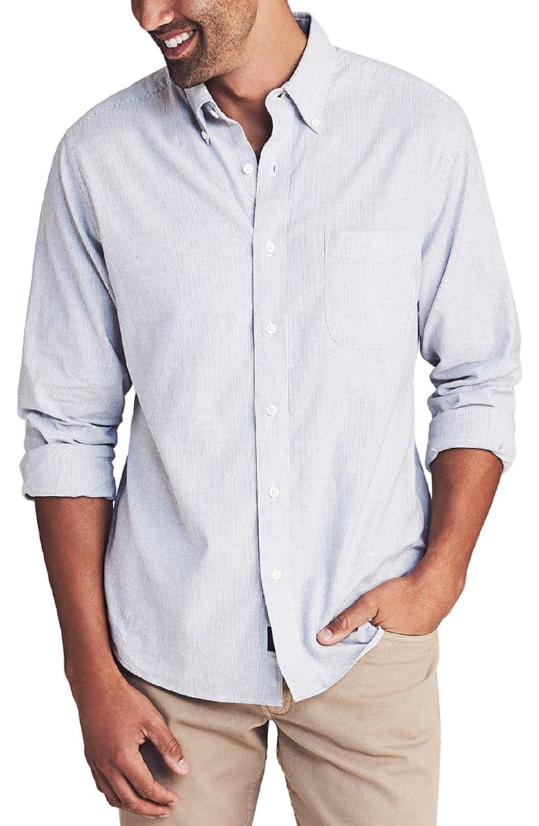 FAHERTY Regular Fit Stretch Oxford Button-Down Shirt, Main, color, 020