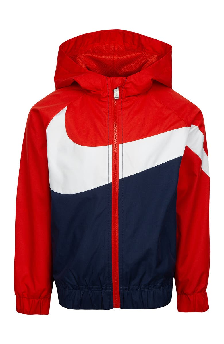 NIKE Swoosh Windrunner Water Resistant Hooded Jacket, Main, color, MIDNIGHT