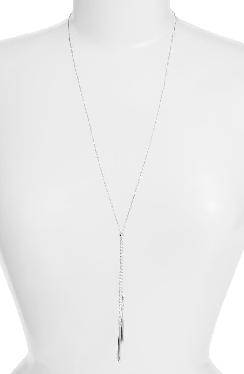 GORJANA 'Thea' Adjustable Lariat Necklace, Main, color, 040