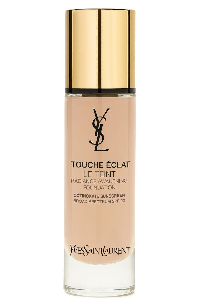 YVES SAINT LAURENT Touche Éclat Le Teint Radiant Liquid Foundation with SPF 22, Main, color, BR10 COOL PORCELAIN