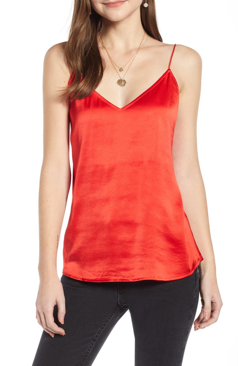SOMETHING NAVY Delicate Camisole, Main, color, 610