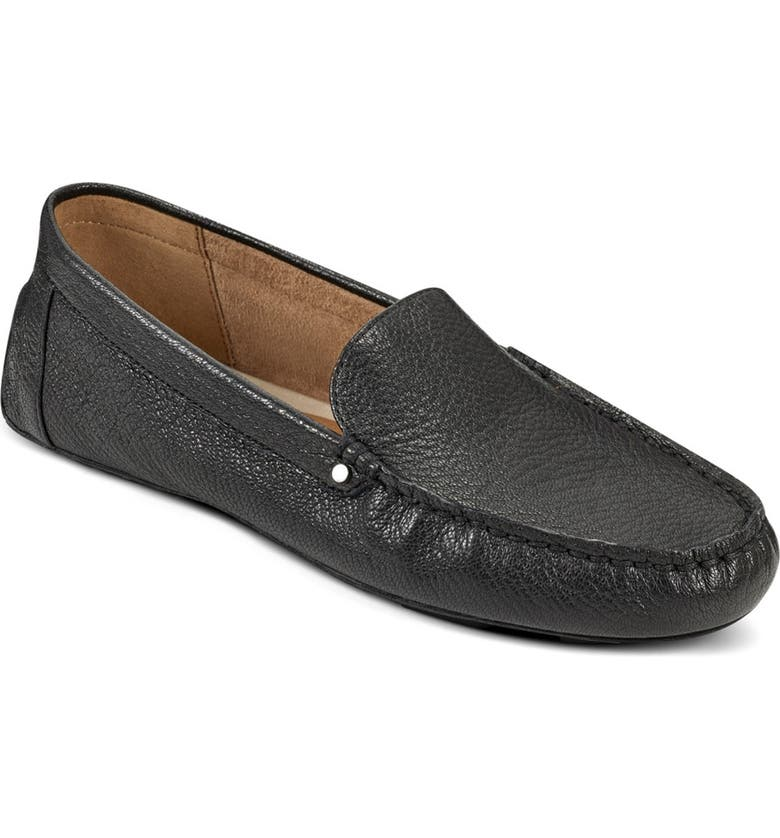 AEROSOLES Bleeker Leather Loafer - Wide Width Available, Main, color, BLACK LEATHER