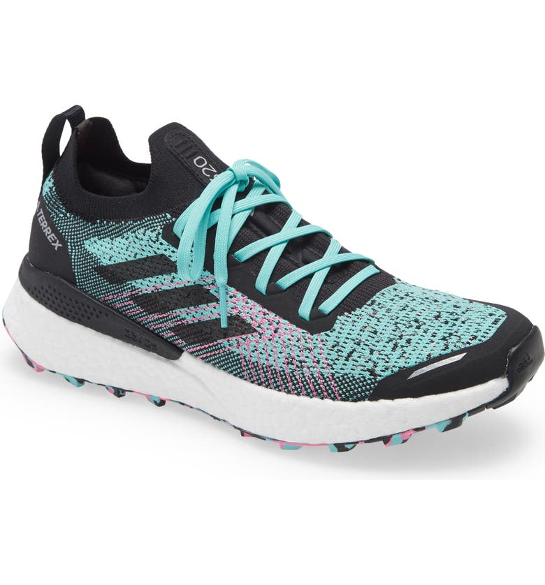 ADIDAS Terrex Two Ultra Parley Trail Running Shoe, Main, color, ACID MINT/ CORE BLACK/ SCREAMI