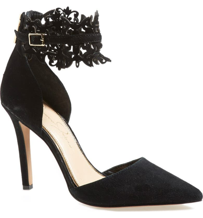 JESSICA SIMPSON 'Cacy' Pointy Toe Pump, Main, color, 001