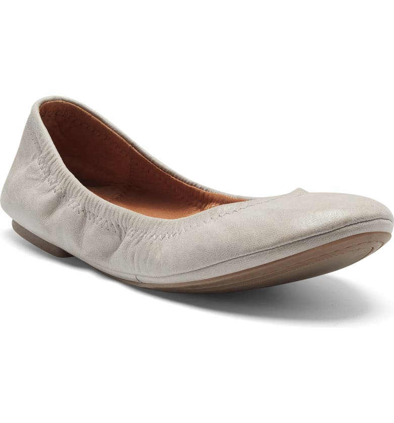 LUCKY BRAND 'Emmie' Flat, Main, color, CHINCHILLA LEATHER MULTI