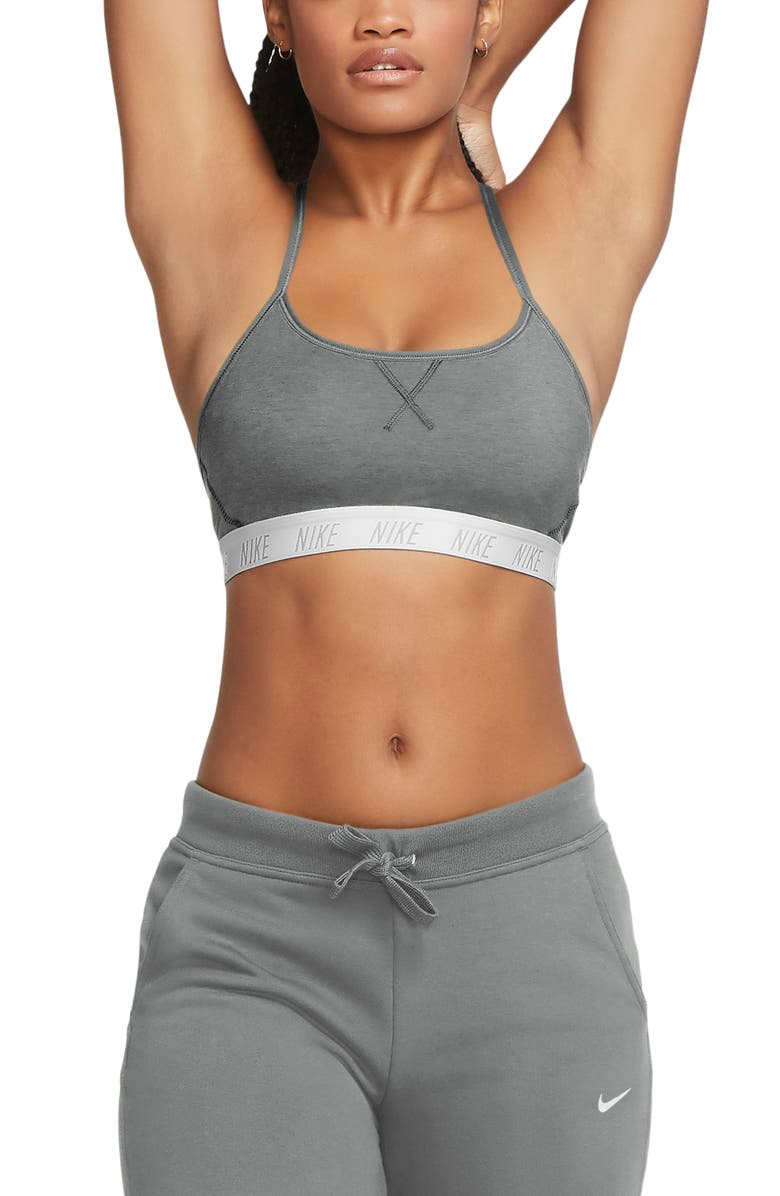 NIKE Indy Sports Bra, Main, color, PARTICLE GREY/ PURE/ WHITE