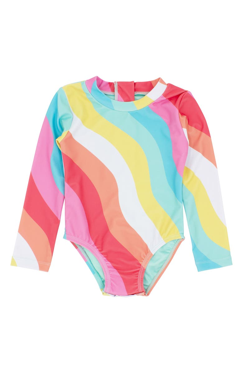 FEATHER 4 ARROW Wave Chaser One-Piece Rashguard Swimsuit, Main, color, 650