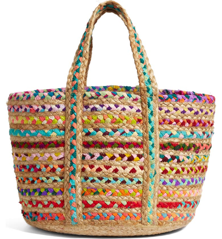 SHIRALEAH Mirabel Woven Tote, Main, color, 001