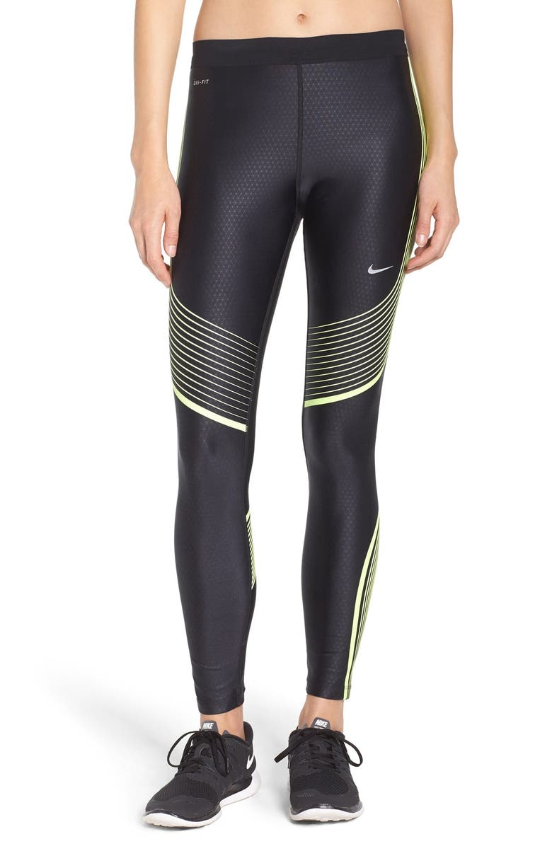 NIKE 'Power Speed' Tights, Main, color, 014