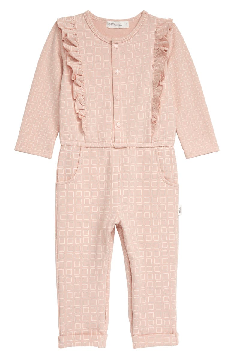 MILES Ruffle Romper, Main, color, LIGHT PINK