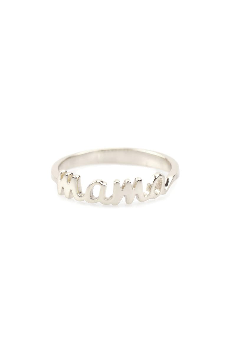 KRIS NATIONS Mama Script Ring, Main, color, 040