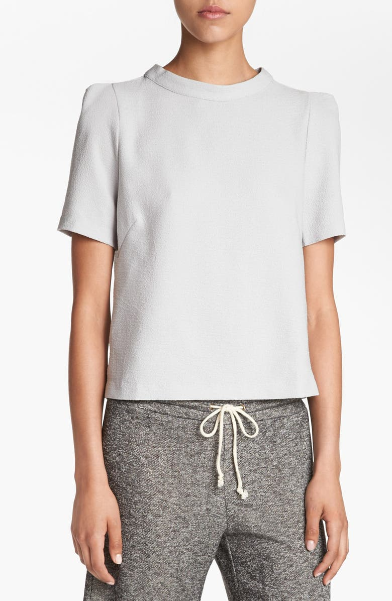 ASTR THE LABEL ASTR Button Back Boxy Top, Main, color, GREY WIND