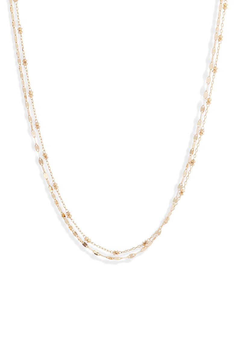 POPPY FINCH Shimmer Layered Necklace, Main, color, 710